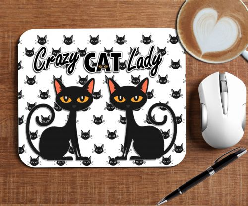 Crazy Cat Lady Mouse Mat PC Computer Pad N13